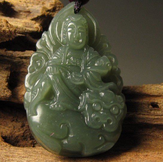 Nature and tian qingyu, the amulet of the Buddha, the bodhisattva. · retro pendant necklace