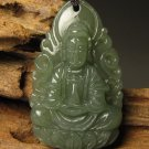 The natural Tian Qingyu, hand-carved amulet Akasagarbha. · Pendant Necklace