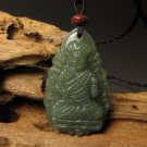 And Tian Qingyu, carved amulet.(Does not move the statue of) Buddha. Pendant Necklace