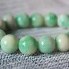 HAN Apple Jade Bracelets, beads about; 15 mm, 15 rubber band strung together.