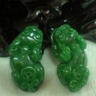 Full of green jade, hand-carved pairs of brave, pendant necklace, couple models (two prices)