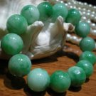 South Korea's green jade bracelet, about 14 mm, 14-15. Rubber band strings together