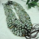 Excellent oil blue jade beads.Yoga meditation 88 meditation beads, hand-woven.