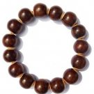 Rosewood carving / sandalwood beads inlaid with cow bone pieces, bracelet / charm.