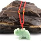 Natural white jade pendant, hand-carved elephant pendant, pendants, necklaces