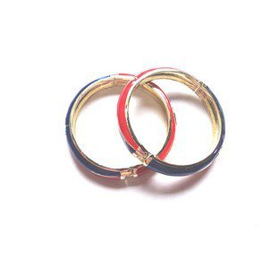 Retro tri-color cloisonne bracelet.The drip alloy.Beauty preferred.