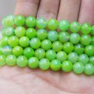 Natural green agate, 8 mm beads, Tibetan Buddhist prayer beads, meditation, yoga beads.