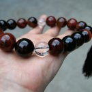 Tibetan Buddhist prayer beads, dark red agate, 20 mm agate beads.(Bracelets).