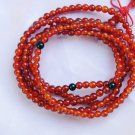 Tibetan Buddhist prayer beads, natural red agate bracelet, 4 mm 216, meditation, yoga beads