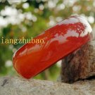 Hand-carved natural agate, red bracelet, diameter approximately 59 - 62 mm, strip width 20 mm,