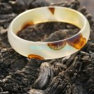 Agate bracelet, the irregular Jiangse pattern, diameter 55 mm, a width of 14 mm, a thickness of 5 mm