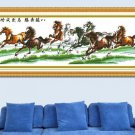 Finished cross stitch, new living room painting, horse Pentium, a quick victory. .165 X50CM