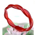 Natural red agate, cannabis-shaped bracelet, diameter 54 - 56 mm, beautiful Ms preferred.