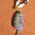 Sided engraving, yellow, green, violet, jade brave peach, necklaces, pendants; 45x23x9mm