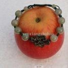 Hand-woven bracelets, hand-carved dark green jade beads jade auspicious knot +10.