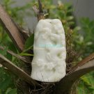 Natural white jade pendant. The magpie is in bamboo, the lucky necklace