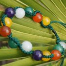 .10 mm red, yellow, white and green purple yuan beads, handmade bracelets cleverly prepared