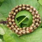 Natural Admiralty Pu Tizi bracelet. 7x8 mm 108 beads necklace, Mara meditation, yoga