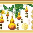 Cross stitch, new bedroom, living room painting , gourd ( Homeplan ) 55x36cm