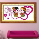 Cross stitch, wedding bedroom, living room painting , Double ( Double Happiness ) 52x24cm