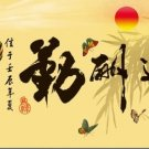 FLOYD (Chinese calligraphy) cross-stitch finished paintings living room 116x49cm