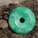 Handmade natural green peace buckle, necklace and pendant and 38 mm