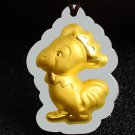 Gold inlaid jade amulet constellation (cartoon chicken) lucky necklace and pendant