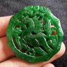 Hand hollow-out valuable.such handiwork jade horse. A quick Lucky pendant necklace