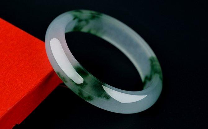Natural white jade wave flower bracelet (handmade) beautiful women's favorite