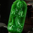 Manual sculpture Fine jade Lotus avalokitesvara (charm). Necklace pendant