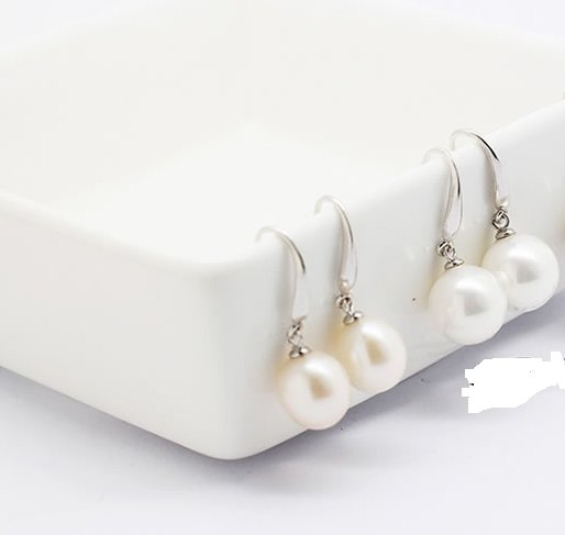 Natural pearl earrings, 925 silver. The beautiful lady's choice