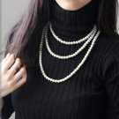 Multiple coloured glaze fine imitation pearl necklace. The choice of beautiful lady