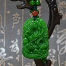Jasper - hand-carved dragon ball (amulet). Lucky necklace pendant.