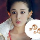 925 sterling silver artificial pearls and double stud earrings. The choice of beautiful lady