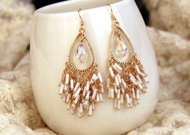 Bohemian long tassels droplets sexy stud earrings. The choice of beautiful lady