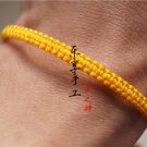 Hand catenary, pure manual weaving Yellow square knot bracelet