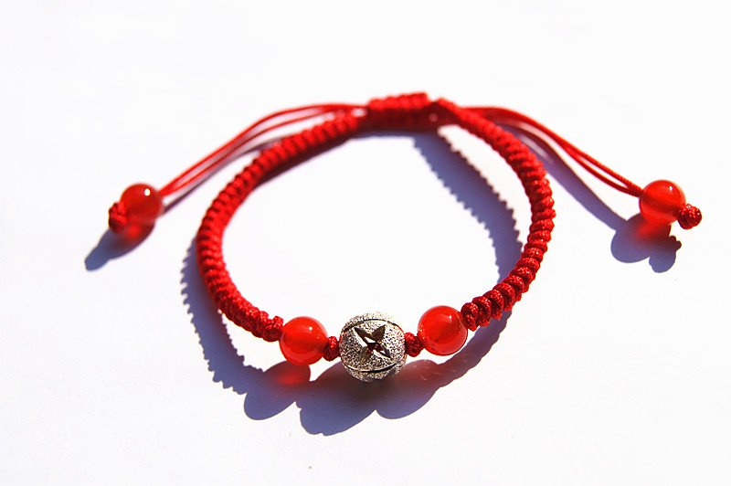 """Manual red king kong """""""" 925 silver bead lucky bracelet"""
