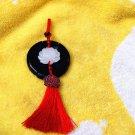 Hand carved jade pendant jade lotus tassel (holy) lucky charm waist pendant