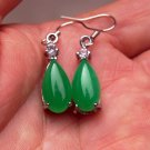High quality green jade. Teardrop-shaped earrings. Ms. beautiful choice (one pair price)