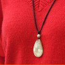 Handmade pure coral (chrysanthemum jade) dripping vintage necklace pendant