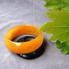 Handmade natural gold silk (extra thick), yellow bracelet, beautiful lady's favorite