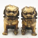 Antique bronze (year of qianlong kang xi), male lions. Small hand handle piece