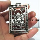 .Vintage white copper and silver smile Buddha (pendant). Talisman - lucky necklace pendant.