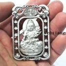 Vintage white bronze lotus -Samantabhadra bodhisattva(amulet). Necklace pendant