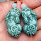 Natural (blue field) jade, hand-carved money (mythical), lovers' money, necklace pendant