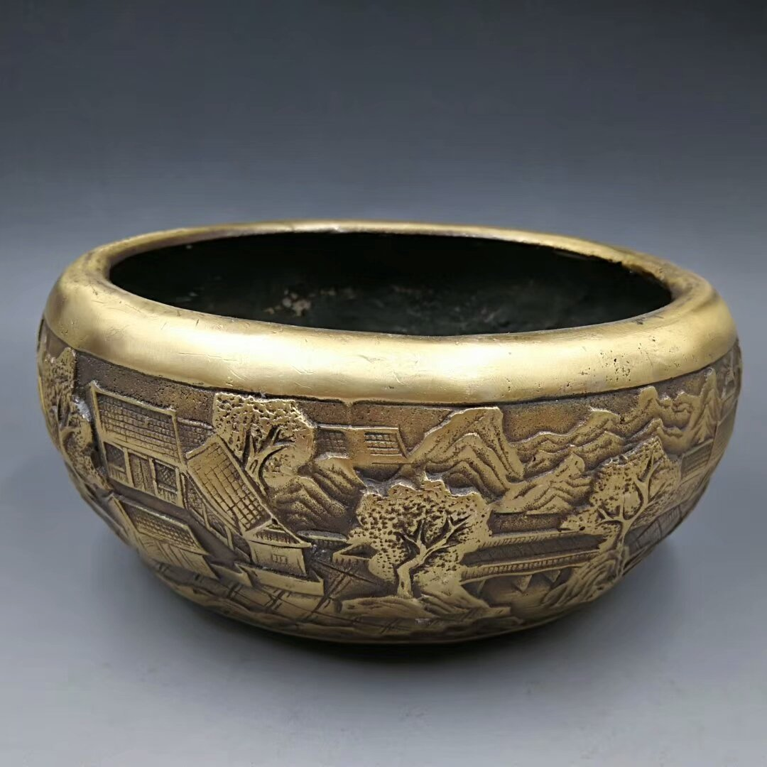 Copper and gold. The ancient temple incense burner (imperial court system). The treasure of the town