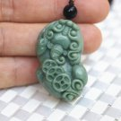 Natural (dongling jade) jade, hand-carved coin (pixiu) lucky, talisman necklace pendant