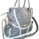 Nice 100% Authentic Nicole Lee Gray  Handbag with Fur