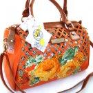 Nice 100% Authentic Nicole Lee Flower Orange Handbag