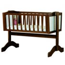 Saplings Bernice Swing Crib  (Walnut & White)